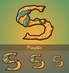 Halloween decorative alphabet - S letter vector image
