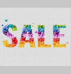 Summer sale text vector