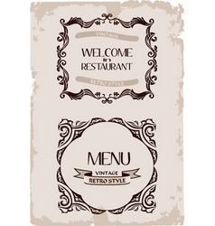 vector vintage restaurant retro frame background p vector image