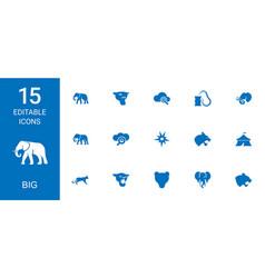 15 big icons vector