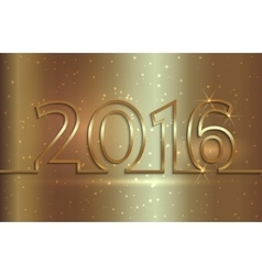 2016 new year greeting vector image