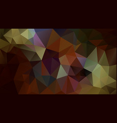 abstract irregular polygonal background brown vector image