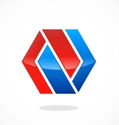abstract polygon infinity shape logo vector image