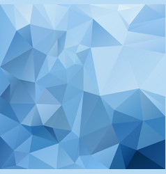 Abstract polygon square background icy blue vector