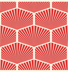 Abstract seamless geometric red pattern vector