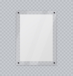 Acrylic glass frame plastic frame for poster of vector
