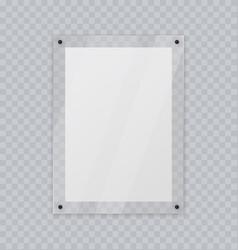 Acrylic glass frame plastic frame for poster vector