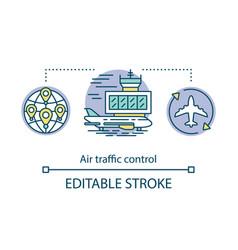 Air traffic control concept icon aircraft control vector