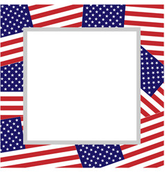 american abstract flag patriotic border vector image