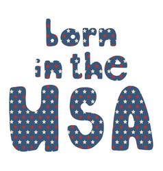 American patriotic lettering vector