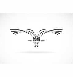 an owl design on a white background wild animals vector image