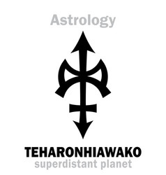 Astrology little planet teharonhiawako vector