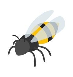 Bee isometric 3d icon vector image
