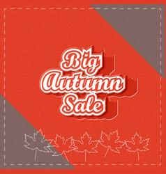 big autumn sale paper lettering vector image