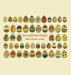 big easter egg set vector image