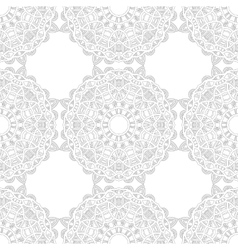 Black and white snowflake for coloring book vector image