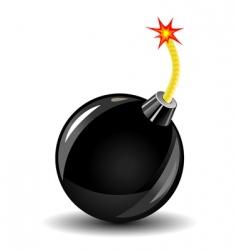 bomb icon vector image