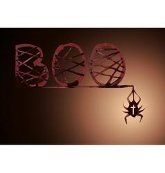 Boo spider vector