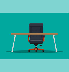 Boss or ceo chair and desktop vector