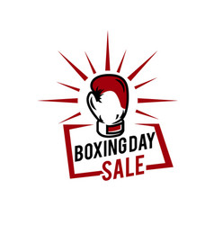 boxing day typography combined in a shape vector image