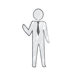 businessperson with tie icon vector image