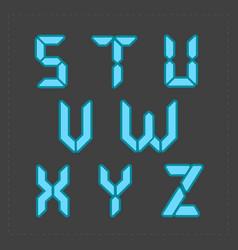 calculator digital blue text vector image