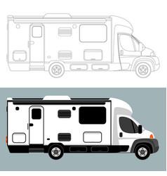 camping car lining draw vector image