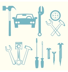 Car repair icons vector