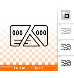 Card cut simple black line icon vector