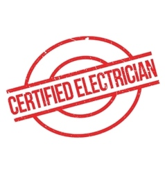 Certified Electrician rubber stamp vector