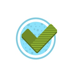 Check mark flat icon vector image