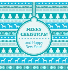 Christmas card vector image