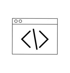 coding script web development and programming vector image