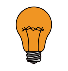 color sketch silhouette light bulb icon vector image