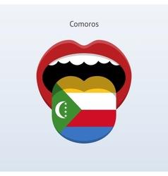 Comoros language abstract human tongue vector