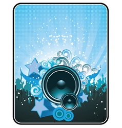 Concert poster with speaker vector