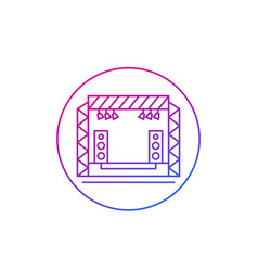 concert stage icon thin line vector image