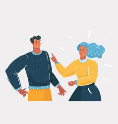 couple of people quarrel and swear vector image