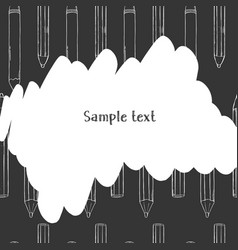 creative frame with pencils on background black vector image