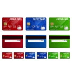 credit cards set isolated vector image