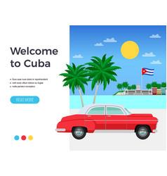 Cuba travel poster vector