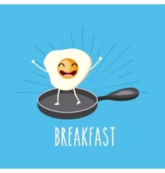 delicious and nutritive breakfast character vector image