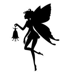Fairy girl silhouette vector