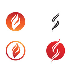 fire flame nature logo and symbols icons template vector image