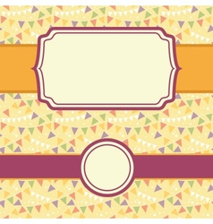frames on party bunting seamless pattern vector image