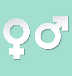 gender icon man and woman symbols paper vector image