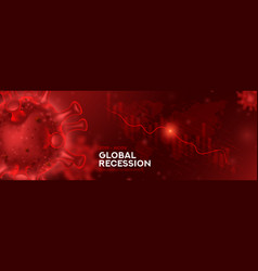 Global recession banner concept vector