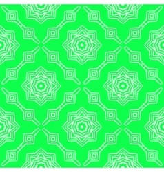 Green ornamental seamless line pattern vector