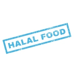 Halal Food Rubber Stamp vector