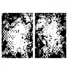 Halftone grunge frame vector